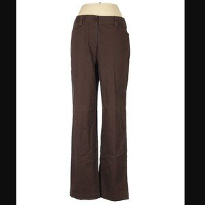 Talbots Pants Stretch Brown Relaxed Fit 10